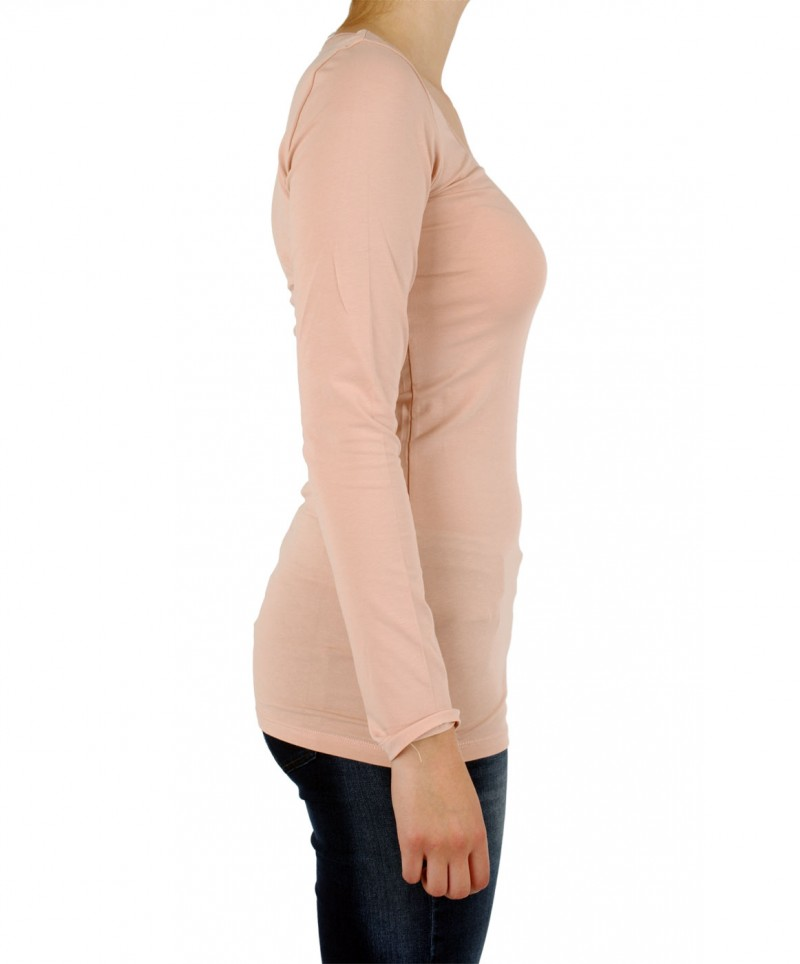 Vero Moda Shirt - U-NECK Long - Maho Rose
