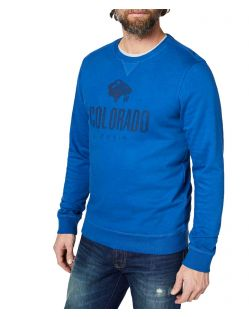 Colorado Denim Olliver - indigoblaues Sweatshirt mit Logo
