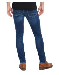 Herrren Jeans - Mustang Oregon Tapered K in Dark Denim - Hinten