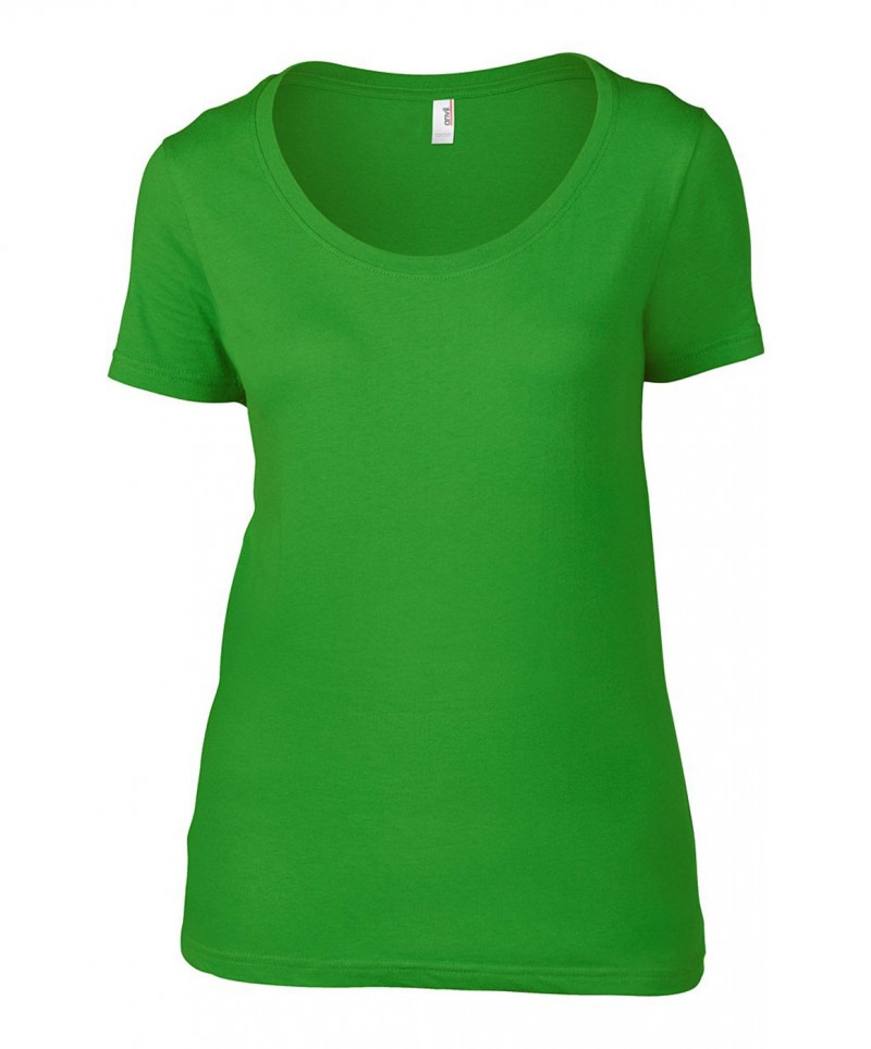 Anvil T-Shirt - Sheer Scoop - Green Apple