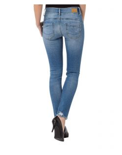 CROSS Melinda - High Waisted Jeans - Light Mid Blue Destroyed - Hinten