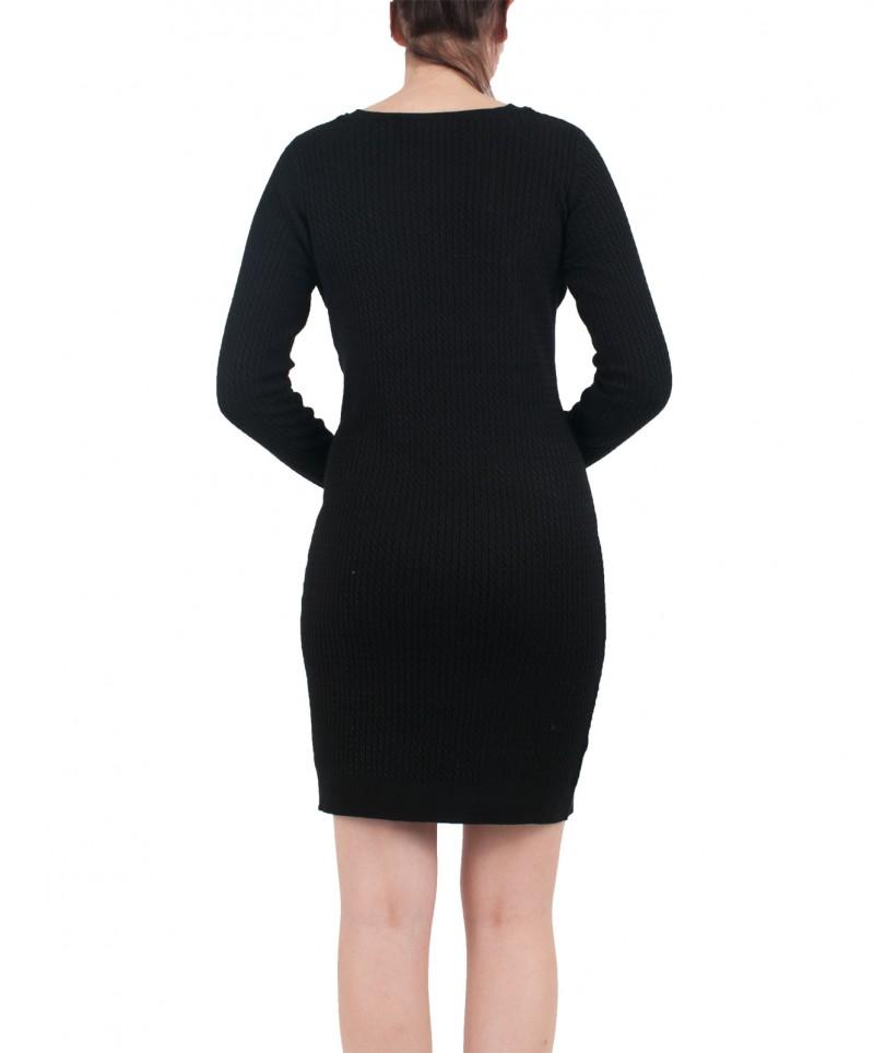 VERO MODA GLORY - Gestricktes Kleid - Schwarz online kaufen