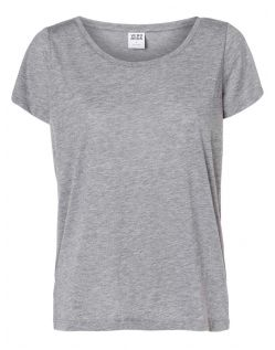 Vero Moda T-Shirt - Molly ss Top - Medium Grey Melange