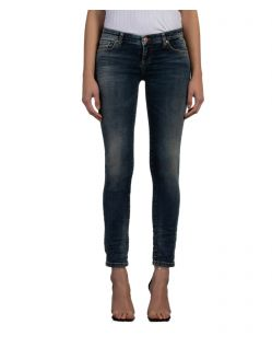 LTB Mina - Dunkelblaue Ankle Jeans in Slim Fit