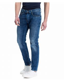 Cross Jeans - Tapered fit Jeans Dark Blue Waschung