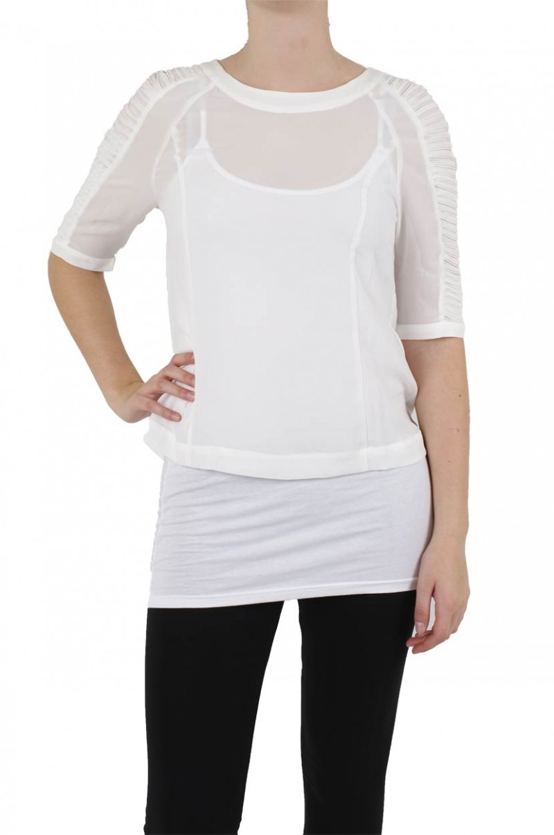 Vero Moda  - Nova 2/4 Top - Snow White v