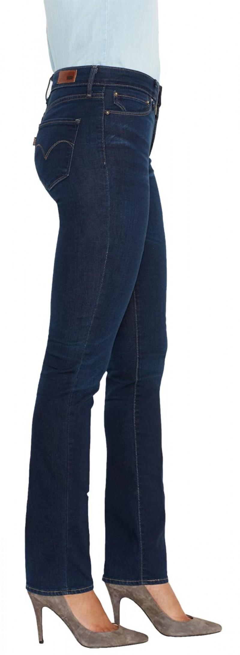 Levis Demi Curve Jeans - Slim Leg - Overcast v