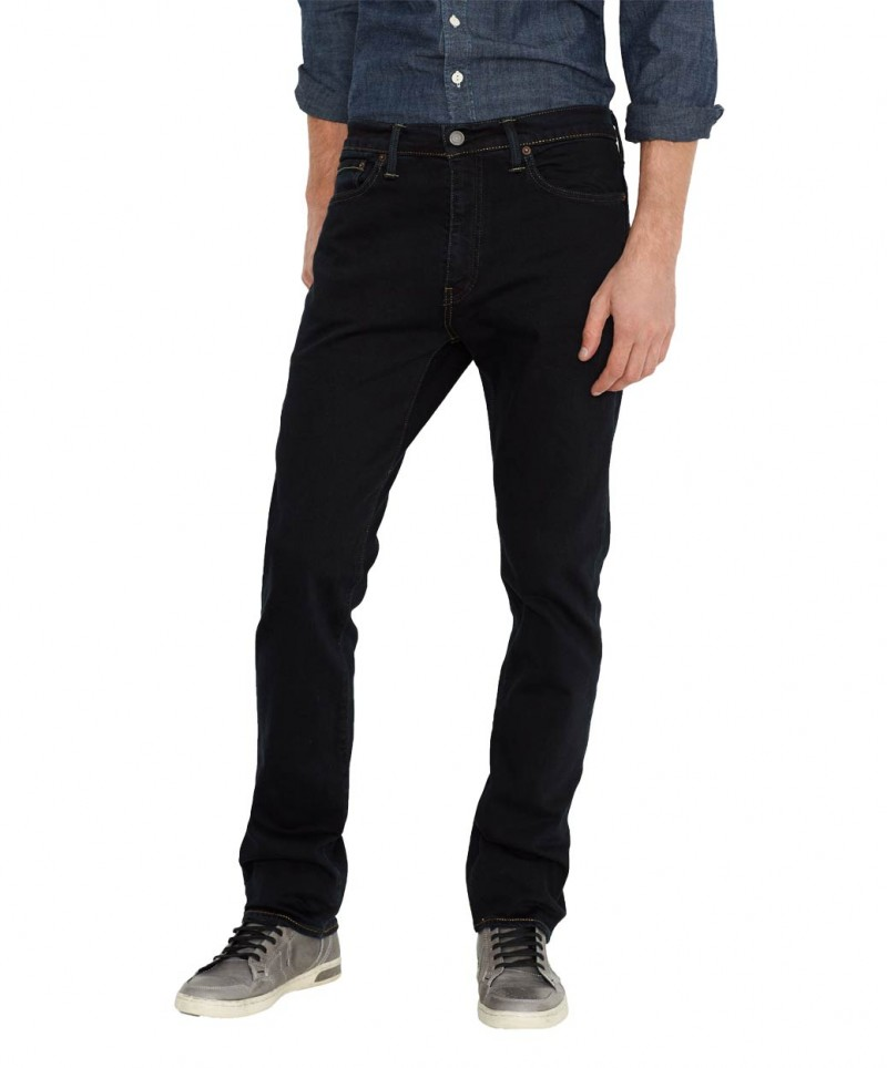 Levis 513 Jeans - Slim Straight - Blue Black Press v