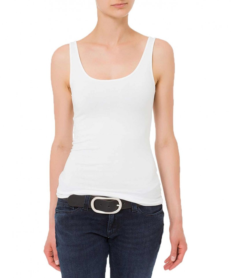 Cross Jeans Gürtel - ovale Metallschließe - Schwarz