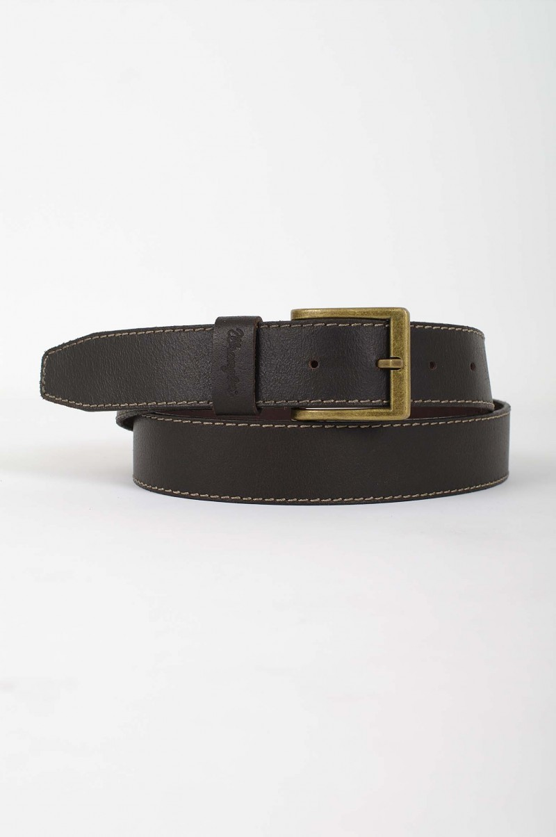 Wrangler Gürtel Basic Stitched Belt in Brown
