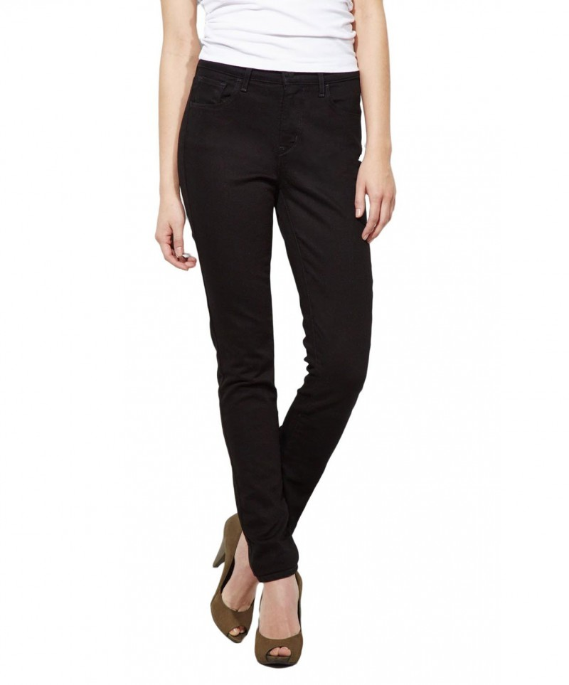 Levis High Rise Skinny  - Pitch Black
