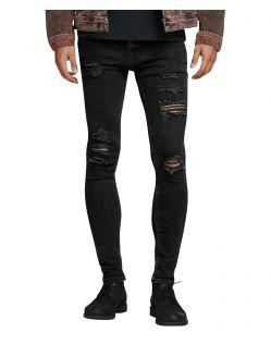 Jack & Jones Skinny-Jeans Liam im schwarzem Destroyed-Look