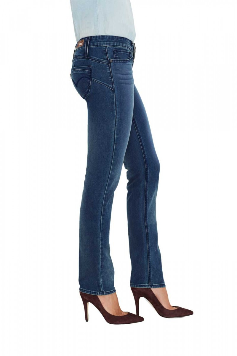 Levis Revel Low Demi Curve Straight - Retro Dark