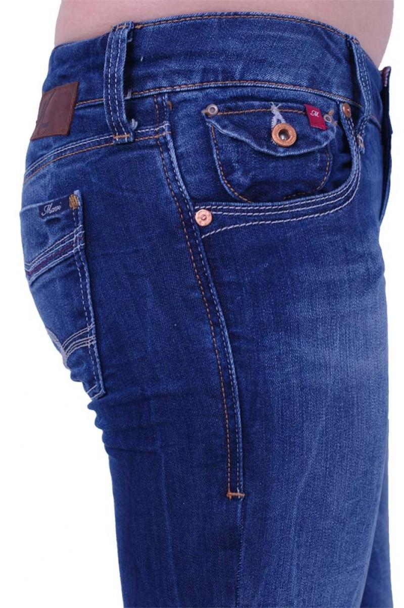 Mavi Olivia Jeans - Straight Leg - Deep Corsica v