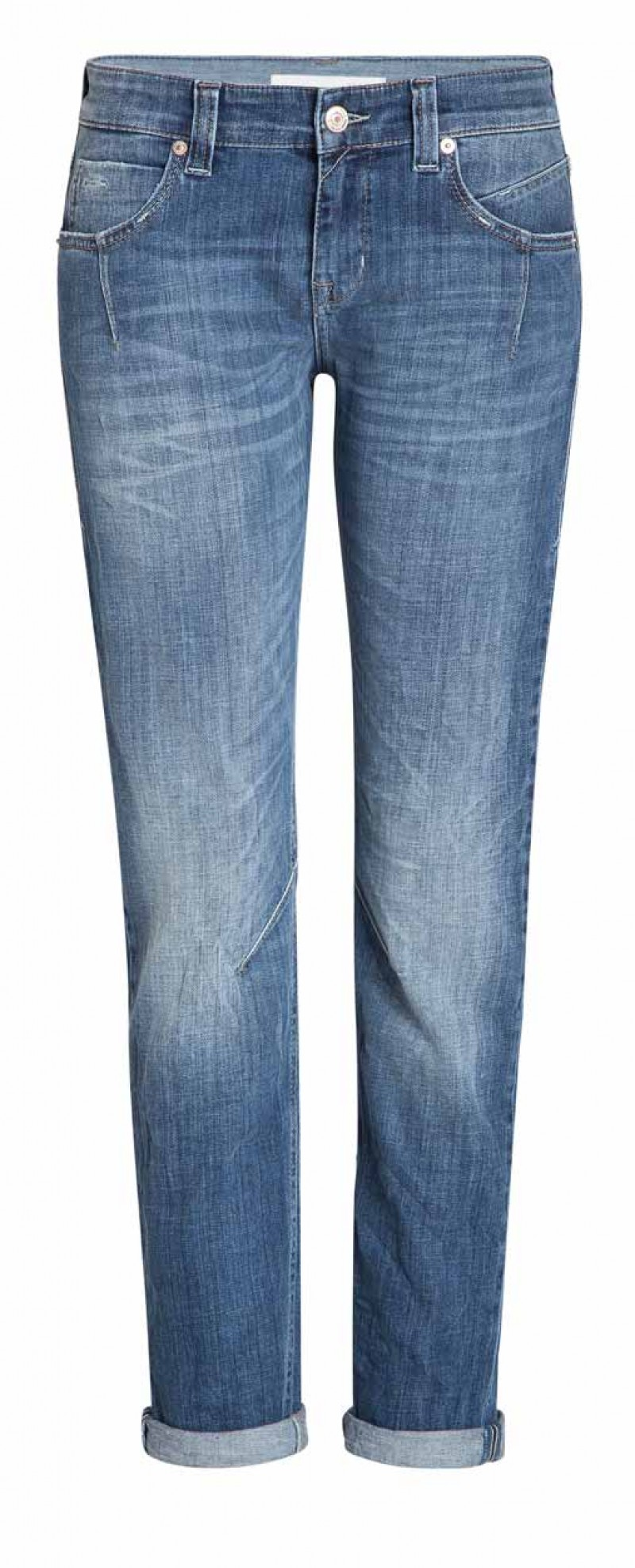 Mac Sexy Slim Boyfriend Jeans - Mid Blue Dirty