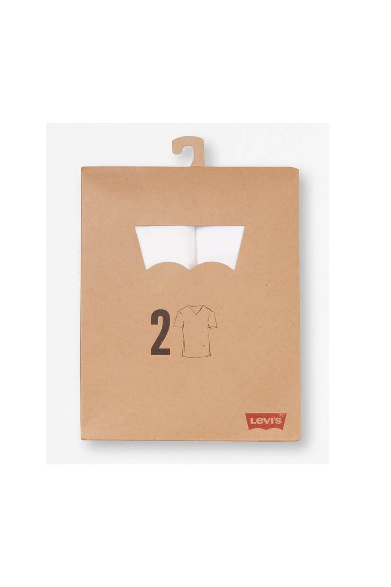 Levis Doppelpack V-Neck T-Shirts Levis weiß/weiß