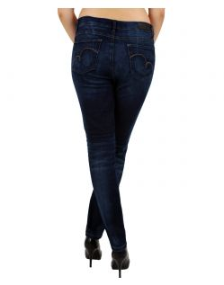 Angels Skinny Jeans - Sweat Denim - Dark Used hinten