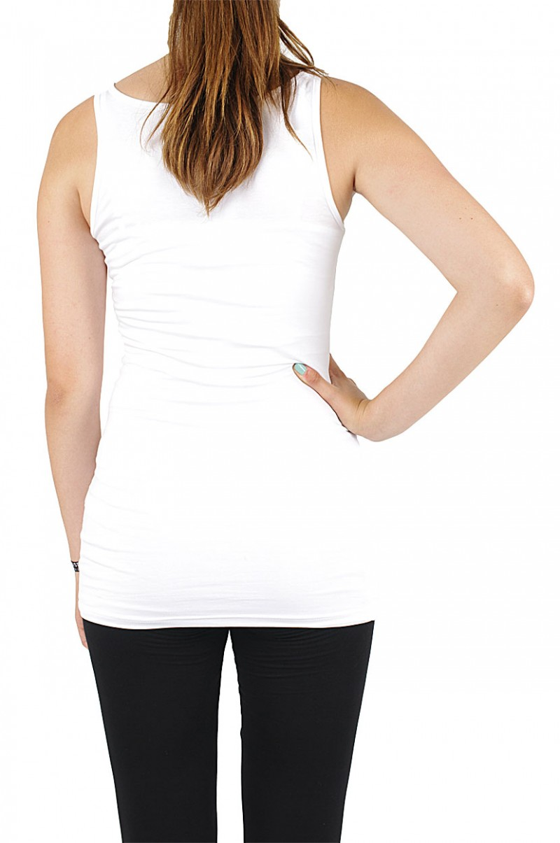 Vero Moda Maxi My Long Tank Top - Opt. White