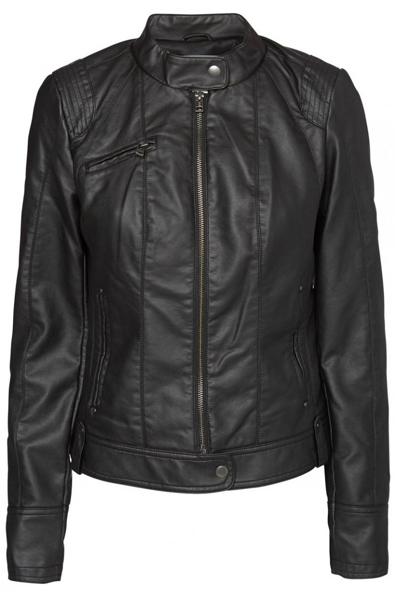 Vero Moda Jacke - Dawn Short PU - Black