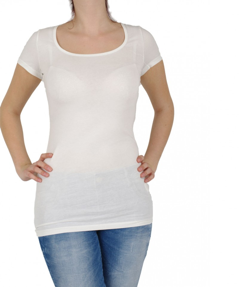 Vero Moda T-Shirt - Long U-NECK SS - weiß