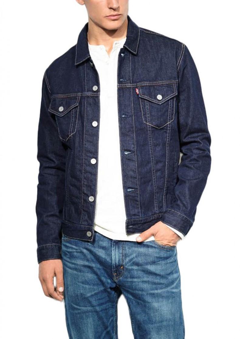 levis jeans trucker jacke onewash