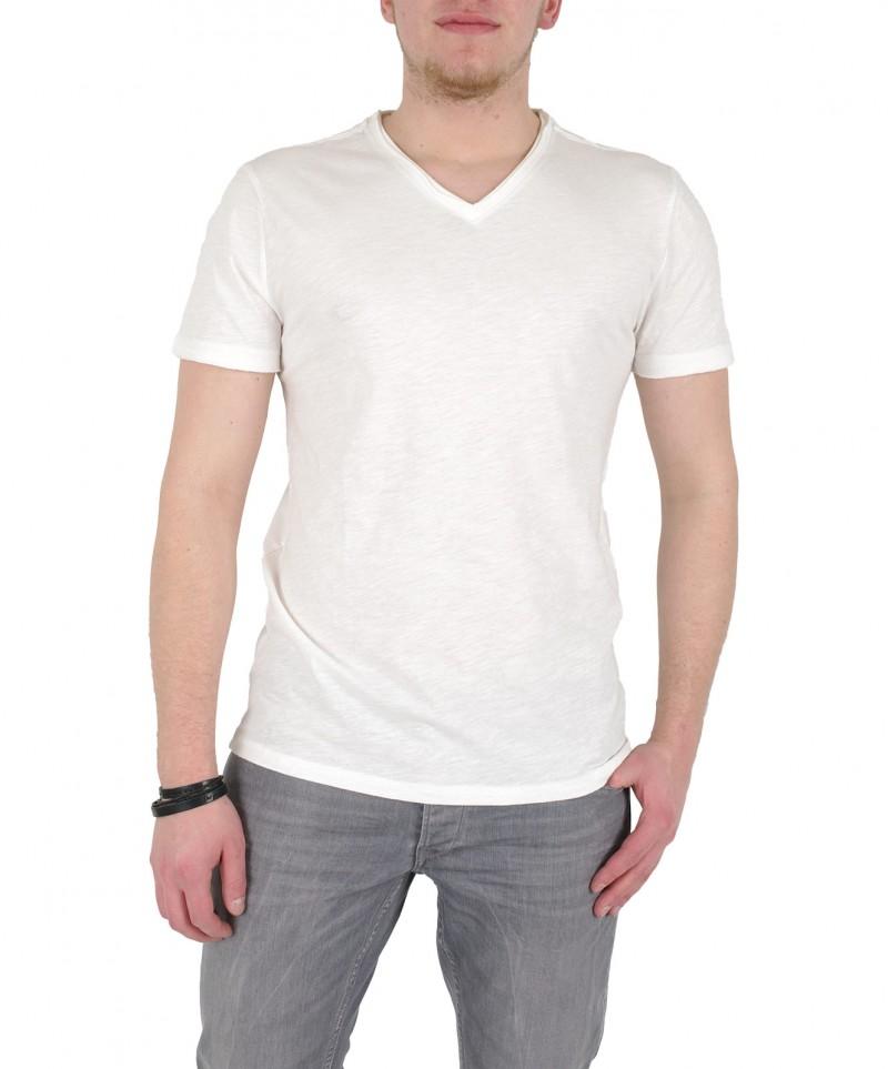 GARCIA MARCO - V-Neck T-Shirt - Weiß - Vorne