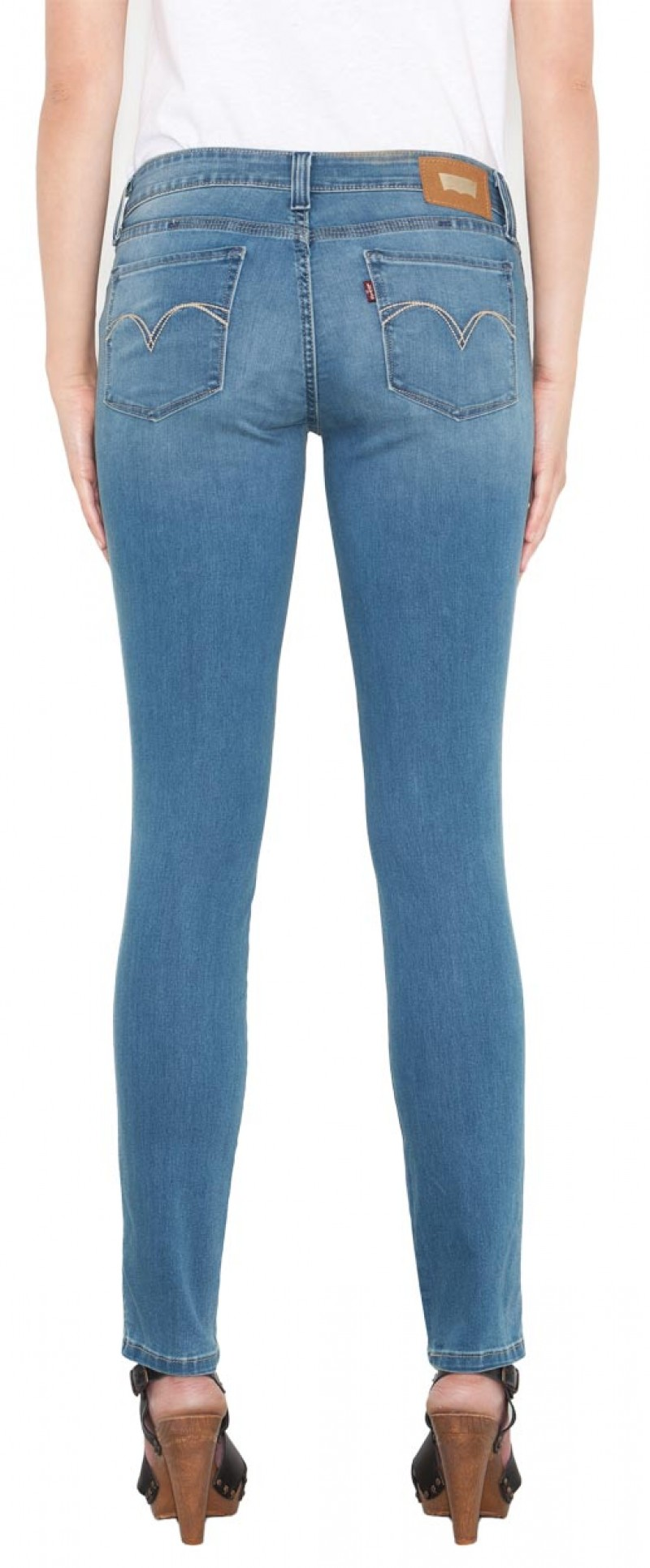 Levis Demi Skinny Jeans  - Low Rise - Sky Blue