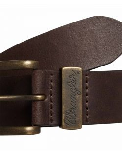 Wrangler Gürtel Basic Stitched Belt in Brown f02