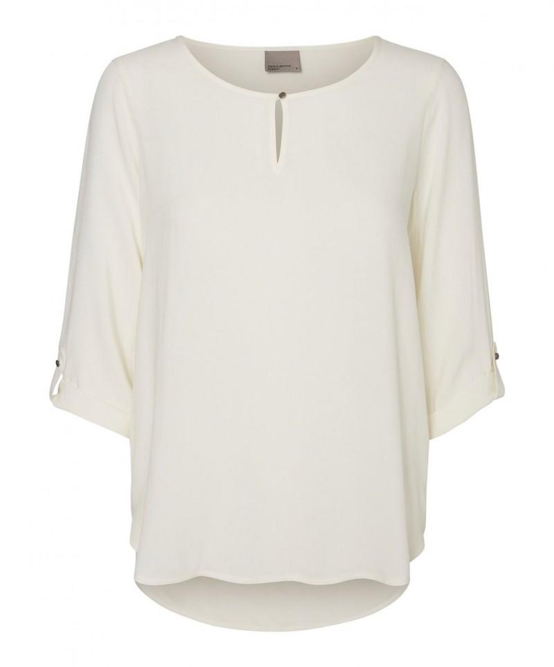 VERO MODA BUCI - 3/4-Ärmel Shirt - Weiss