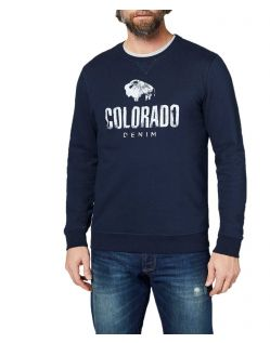 Colorado Denim Olliver - Logo Sweatshirt in dunkelblau