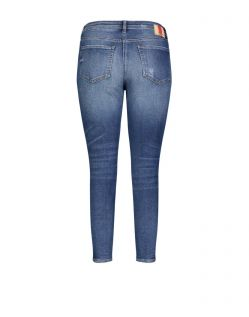 Mac Skinny - Vintage Jeans in blauer used Optik - Hinten