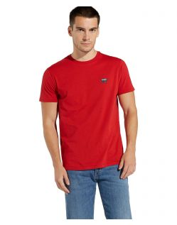 Wrangler - Logo T-Shirt in kräftigem Rot