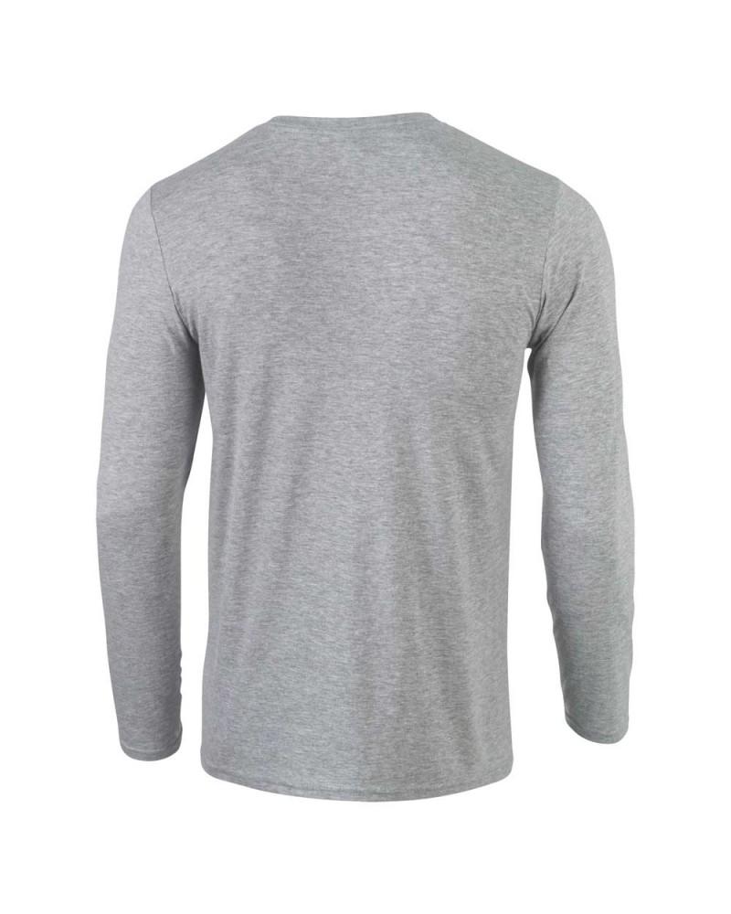 Gildan Herren Langarmshirt - Softstyle - Sport Grey v