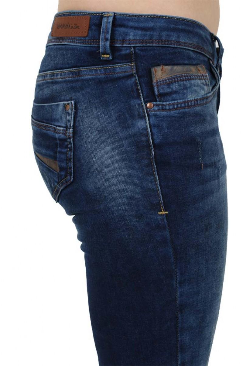 Vero Moda Flashy Slim - Leather - Medium Blue