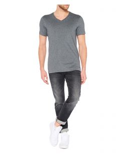 Colorado Joaquim - V-Neck T-Shirt - Dark Grey Mel - Vorne
