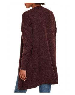 Vero Moda Doffy - Roter Strick Cardigan in Oversize Form - Hinten