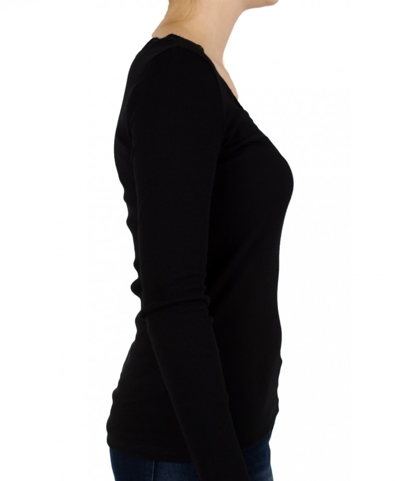 Vero Moda Shirt - LENA LACE TOP - Black