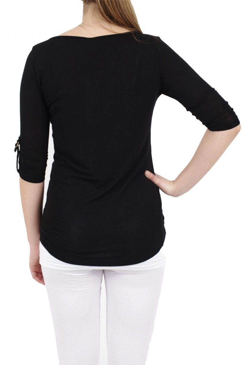 Vero Moda Shirt - Burcu Essie Turn-Up - Black