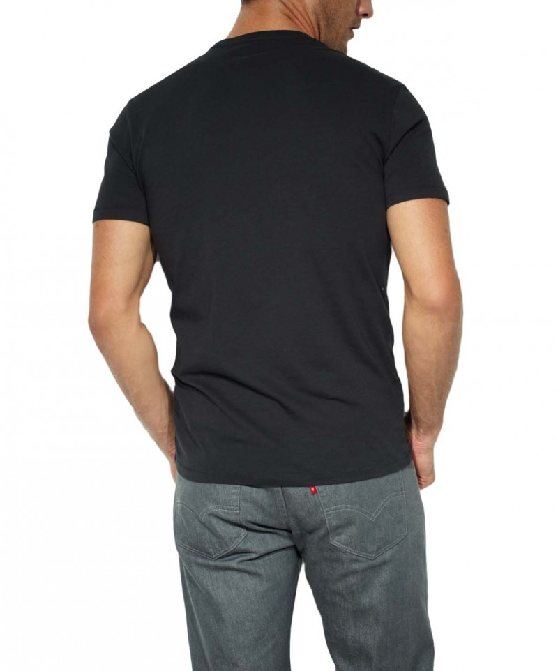 Levis T-Shirt - 2 Pack Crew Tee - Slim Fit - schwarz