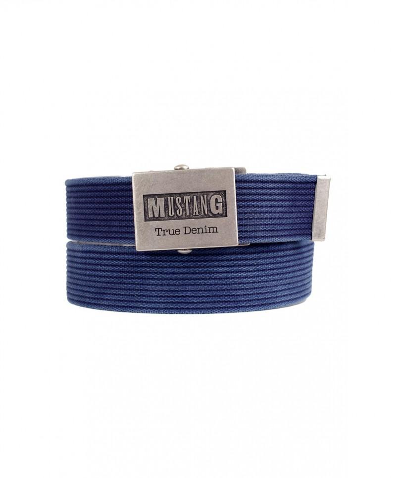 Mustang Gürtel - Woven - Blau