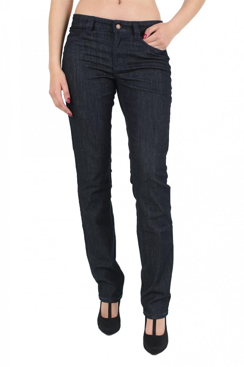 Mac Angela Jeans - bequeme Taille - Dark Rinsewash