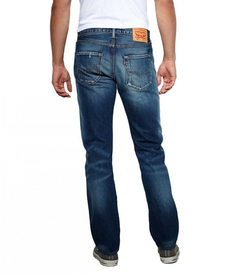 Levis 501 Jeans - Straight Leg - wave surf wash