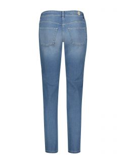 MAC DREAM Jeans - Straight Leg - Light Blue Used Washed - Hinten