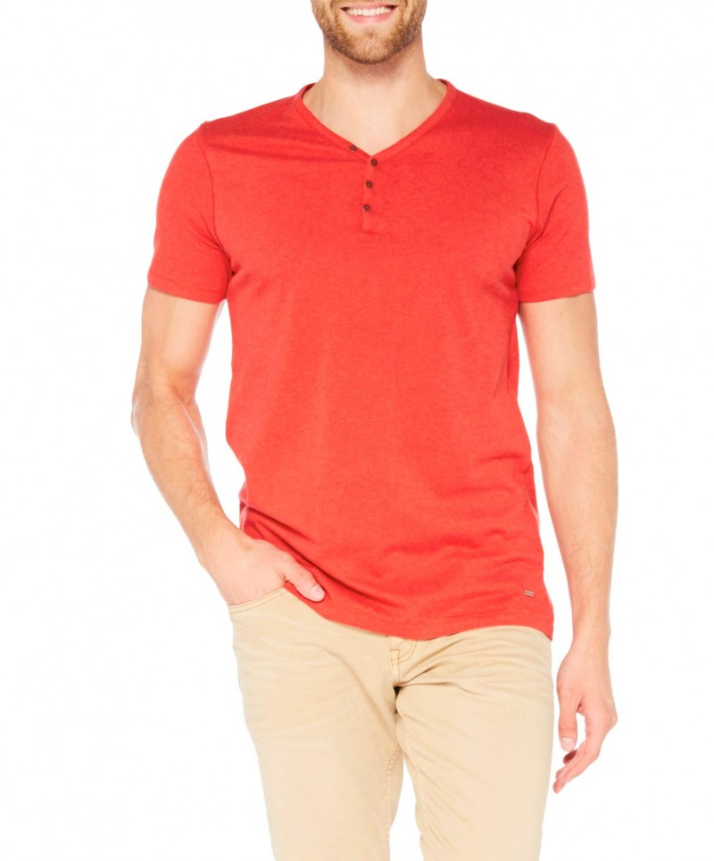 Colorado Wassily - V-Neck T-Shirt - Aurora Red Mel