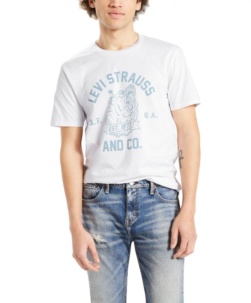 LEVI'S T-Shirt - Neck Graphic Set - Bear White