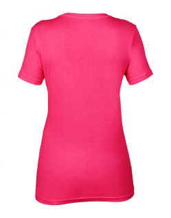 Anvil T-Shirts - Sheer V-Ausschnitt  - Hot Pink h