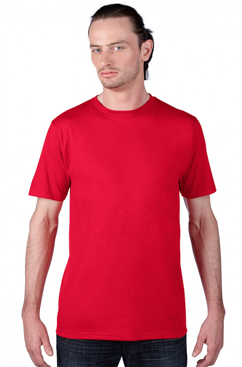 Anvil Knitwear Herren T-Shirt Sustainable  rot