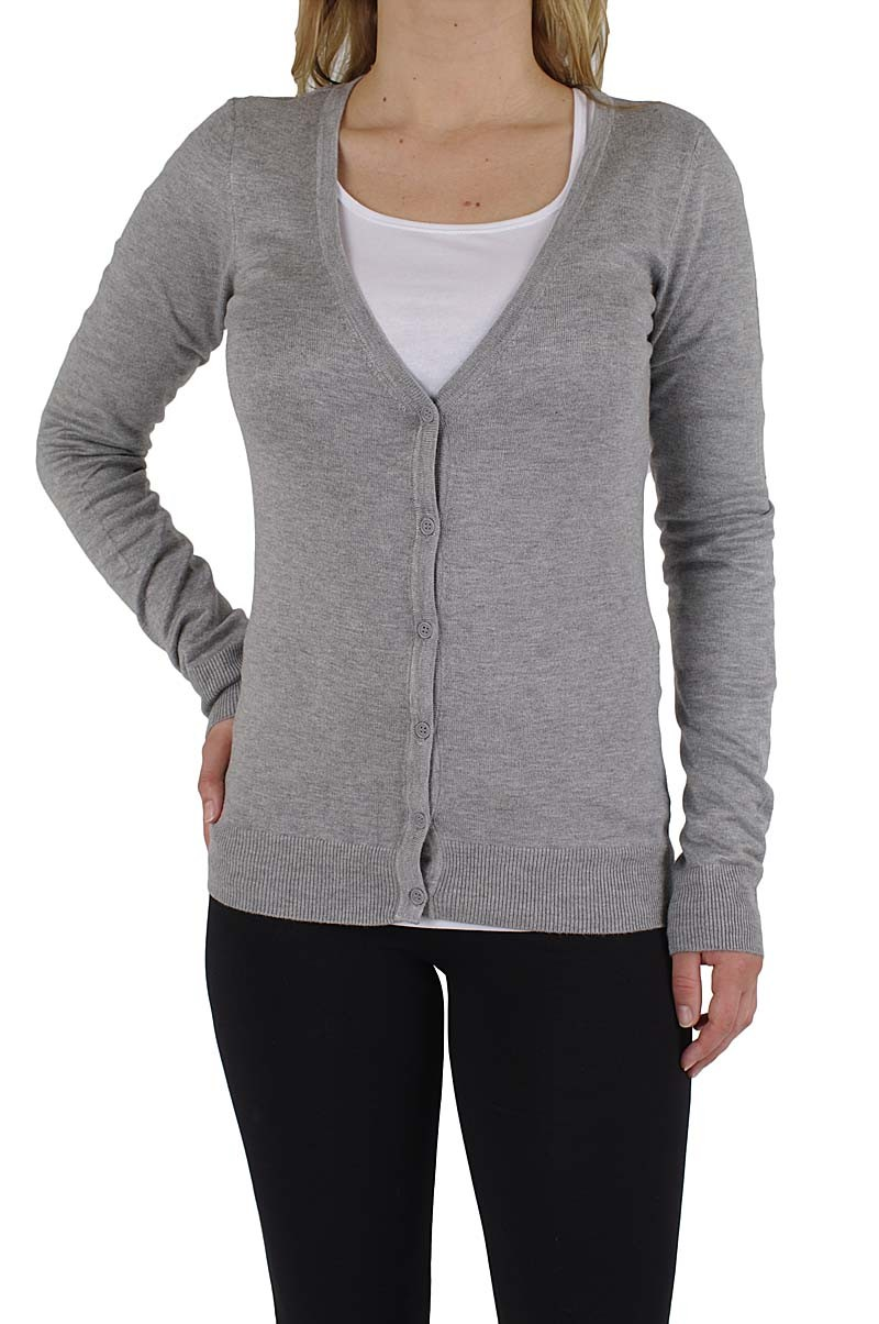 Vero Moda Glory new ls v-neck cardigan light grey mel