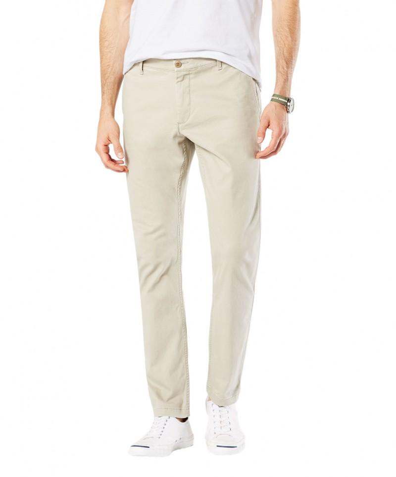 79f7e03350 Dockers Washed - schmal geschnittene Khaki Hose in hellem Farbton zum Tiefe  Preise für 59,95 € kaufen