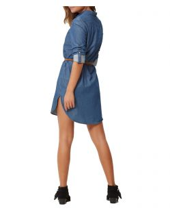VERO MODA KARDASH - Jeansshirt - Medium Blue - Back